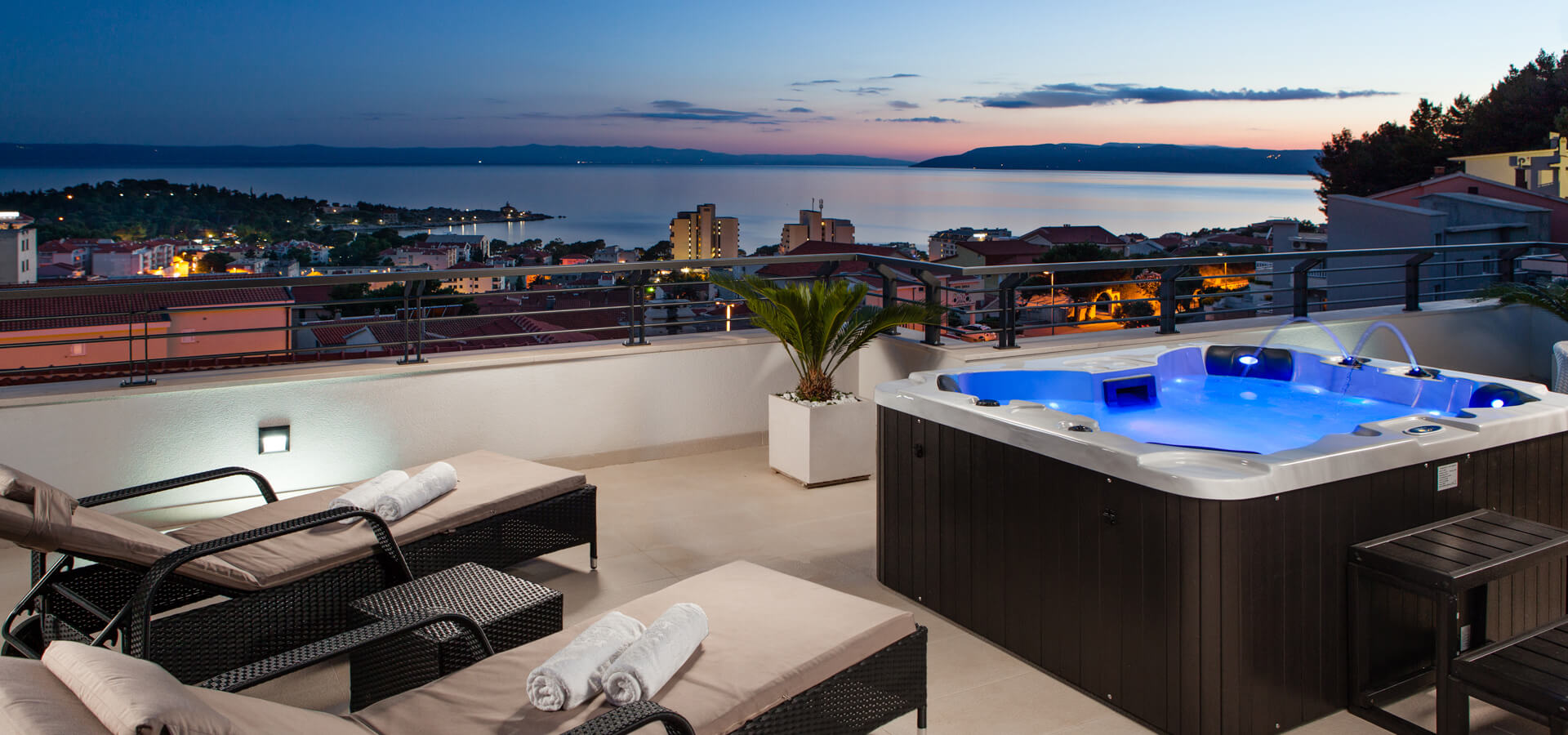 Sea view - villa with jacuzzi in Croatia - photography by Ergo Media
